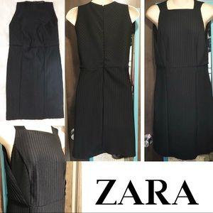 Zara W&B Collection Black Dress